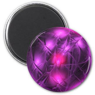 Crystal gazing (purple) 6 cm round magnet