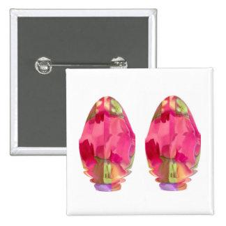 Crystal Gem : RedRose PinkRose based Art 15 Cm Square Badge