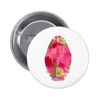 Crystal Gem : RedRose PinkRose based Art 6 Cm Round Badge