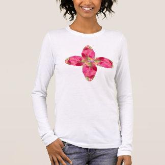 Crystal Gem : RedRose PinkRose based Art Long Sleeve T-Shirt