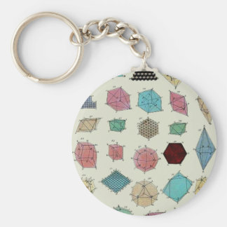 Crystal Geometry Basic Round Button Key Ring