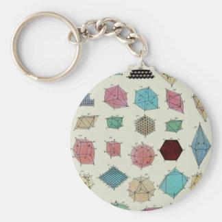 Crystal Geometry Key Ring