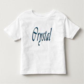 Crystal Girls Name Logo, Toddler T-Shirt