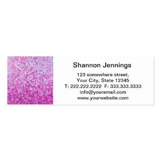 Crystal Glitter Artwork Pack Of Skinny Business Cards