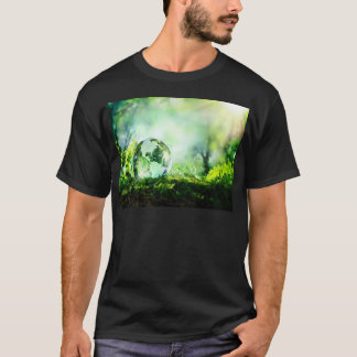 Crystal globe in a green forest T-Shirt
