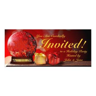 Crystal globe party invitations