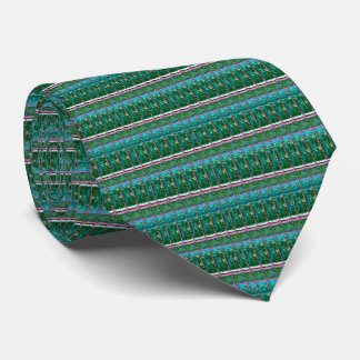 CRYSTAL Green Graphic Pattern Decoration GIFTS Tie