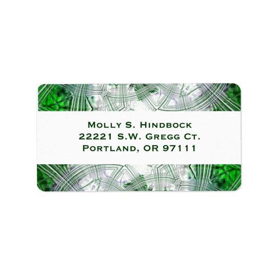 Crystal Green Plaid Address Label
