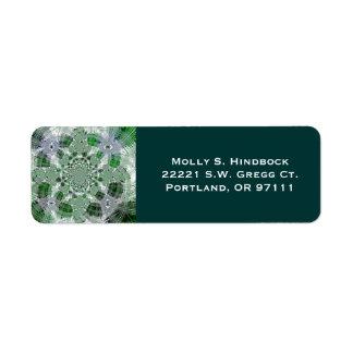 Crystal Green Plaid Return Address Label