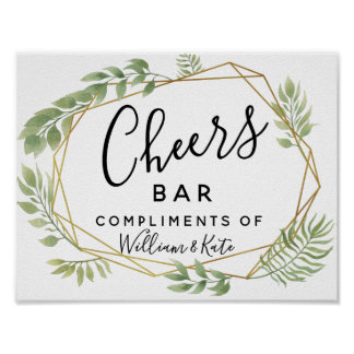 Crystal green wedding  CHEER Bar wedding/party Poster