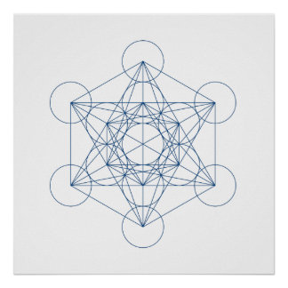 Crystal Grid - Metatron's Cube Poster