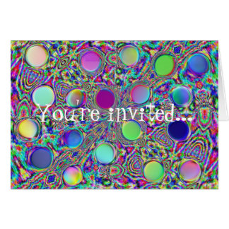 Crystal Groovy Polka Dots Invitiation 2 Note Card