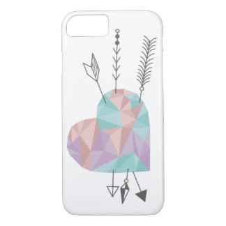 Crystal Heart and Arrows iPhone 8/7 Case