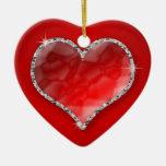 Crystal Heart Ceramic Heart Decoration