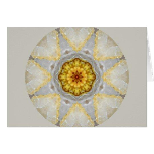 Crystal Heart Mandala Card