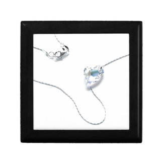 Crystal Heart Necklace Gift Box