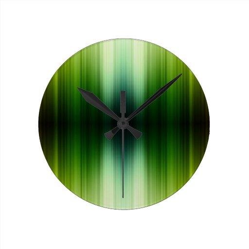 Crystal Jade esq Green Grass Blades Wall Clocks
