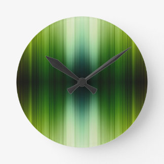 Crystal Jade esq Green Grass Blades Wall Clock
