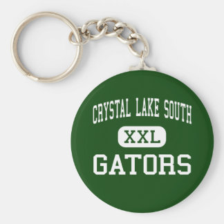 Crystal Lake South - Gators - High - Crystal Lake Basic Round Button Key Ring