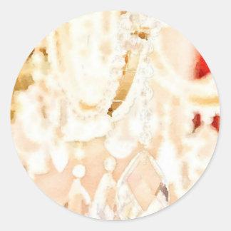 Crystal Light Round Sticker