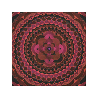 Crystal mandala canvas print