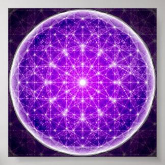 Crystal Mandala Poster