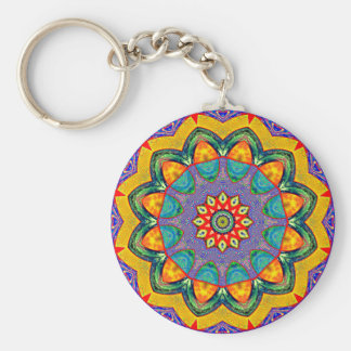 """Crystal Mandala Quilt"" Keychains"