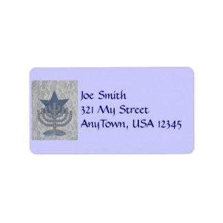 Crystal Menorah, Address Label