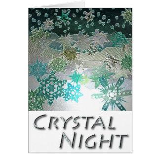 Crystal Night Greetings Card