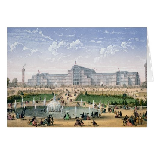 Crystal Palace, Sydenham, c.1862 (colour litho) Greeting Card