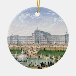 Crystal Palace, Sydenham, c.1862 (colour litho) Christmas Ornament