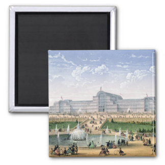 Crystal Palace, Sydenham, c.1862 (colour litho) Magnet