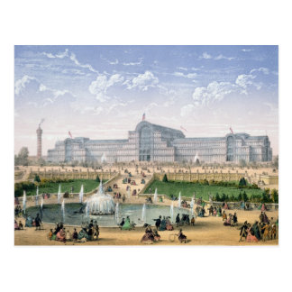 Crystal Palace, Sydenham, c.1862 (colour litho) Postcard