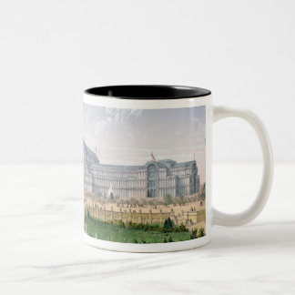Crystal Palace, Sydenham, c.1862 (colour litho) Two-Tone Mug