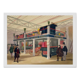 Crystal Palace, the Agricultural Court (coloured l Poster