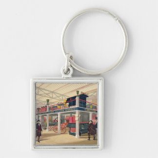 Crystal Palace, the Agricultural Court (coloured l Silver-Colored Square Key Ring