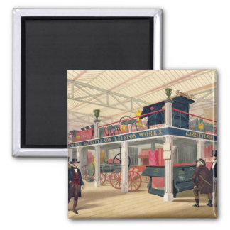 Crystal Palace, the Agricultural Court (coloured l Square Magnet