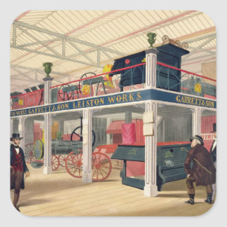 Crystal Palace, the Agricultural Court (coloured l Square Sticker
