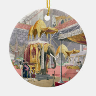 Crystal Palace, the Indian Court, pub. by Dickinso Christmas Ornament