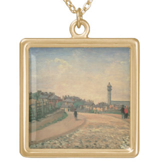 Crystal Palace, Upper Norwood (oil on canvas) Gold Plated Necklace