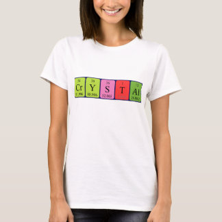 Crystal periodic table name shirt