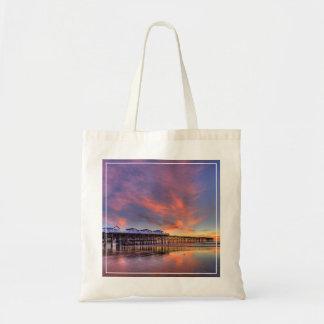 Crystal Pier Sunset Tote Bag