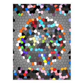 Crystal Pixels Dots Art Postcard