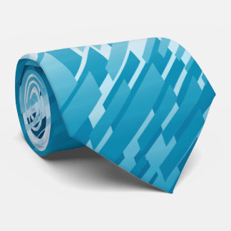 Crystal Prism Striped Spectrum Teal Two-Sided Tie