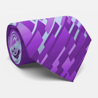 Crystal Prism Striped Spectrum Violet Two-Sided Tie