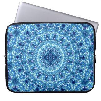 Crystal Radiance Mandala Laptop Sleeve