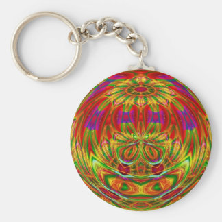 Crystal Rainbow Basic Round Button Key Ring