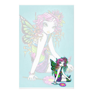"""Crystal"" Rainbow Candy Fairy Art Stationery"