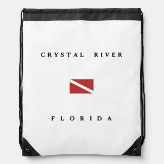 Crystal River Florida Scuba Dive Flag Backpacks