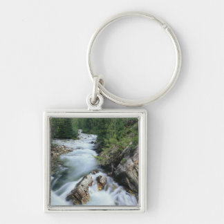 Crystal River, Gunnison National Forest, Silver-Colored Square Key Ring